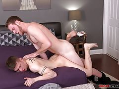 Benjamin Dover kisses Dillon Anderson�s neck while Dillon undresses, and once his clothes are off Ben gets his mouth on that cock and sucks that sweet dick.