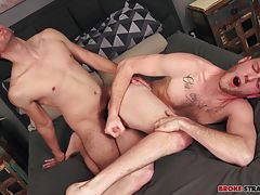 Jos�s hard pounding makes Benjamin grip the sheets and bury his face in the bed, taking that cock as Jos destroys his ass but then slows his pace a little, letting Benjamin really feel it as every inch of that shaft slides in and out of him.  Jos pulls Be