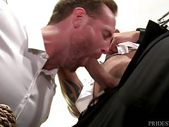 After sucking, Jace takes Jacks clothes off and moves to his ass. Jace rims him deep with his tongue prepping him for his big cock. Jace gives no mercy to Jack as he starts fucking him and drives his cock all the way in. Once Jack is used to it, Jace fuck