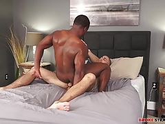 Ari pushes his cock up into Buddy's tight, sore hole, dominating that ass until Buddy is ready to get revenge and they flip, Buddy pushing Ari onto his side and sliding his bareback length into Ari.  Ari bottoms like a pro, taking Buddy's member and letti