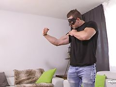 This time I wanted him to show me how he fucks. It`s always really exciting to see those hot dudes in action. Simply watching how intense he got with our prop, almost destroying it, you can tell that he likes hard sex. He delivered a huge cumshot then pla