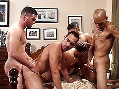 Here it is, one of the best bareback orgies we`ve seen all year