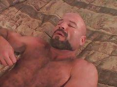 Horny lovers change their roles and now it`s time to daddy bear to get fucked.