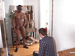 My cable company sent Hendell back for a check-up visit. While he was on location, I received a call from a friend of mine looking for a male stripper for his wife`s birthday. I instantly thought of the gorgeous repairman in front of me. Hendell had never