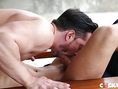After a couple of minutes of going slow though Jimmy is ready to really start pounding Carter�s hole so he starts plowing into Carter until he begs him to slow down and let him ride his dick.