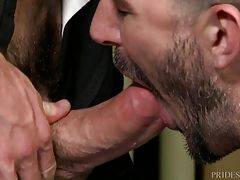 Mike gives up the sweet ass and lets Johnny fuck him. Johnny doesn`t goes as easy on Mike and pumps him good until they both pop from all the excitement.